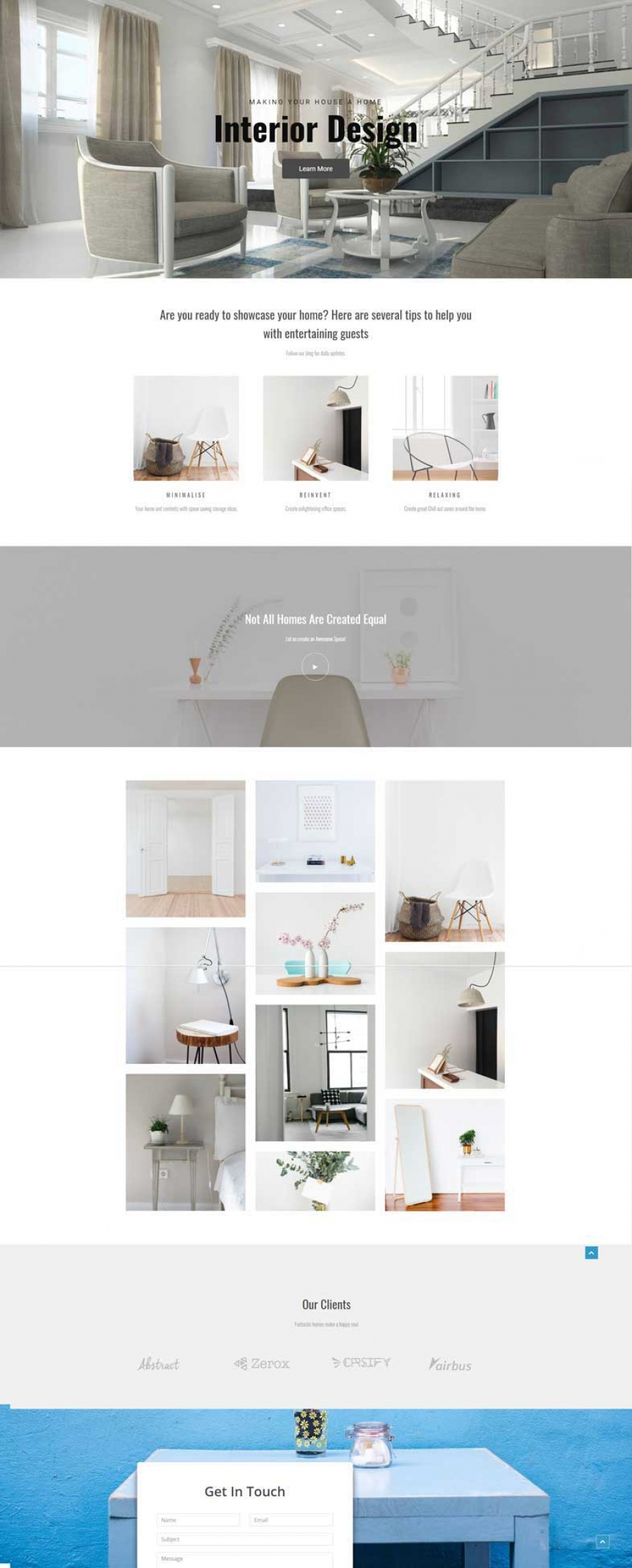 Web Design Ideal For An Interior Designer